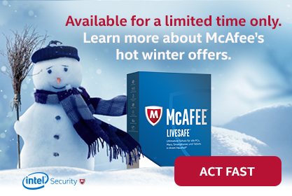 Sparks Consulting, McAfee winter alert